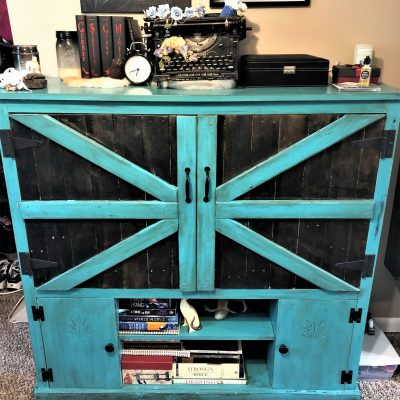DIY Entertainment Center Refurbished into a Dresser